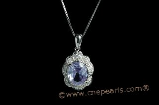 CZP004 Gorgeous Sterling Silver & Cubic Zirconia Pendant