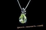 CZP006 Clear Teardrop Pear Shape Cubic Zirconia CZ Jewelry Pendant