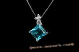 CZP007 Grace Princess Cut Cubic Zirconia Pendant