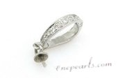 E01 Sterling silver enhancer pendant mountting,8*13mm