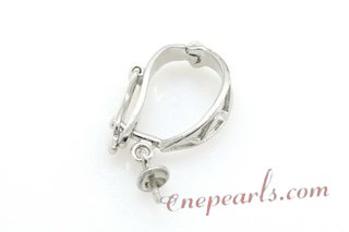 E02 Large sterling silver enhancer pendant mountting,13*16mm