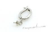 E04 8*14mm enhancer pendant mountting in sterling silver