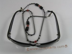 GCH002 Fashion black beads Eyeglass chain/holders in wholesale