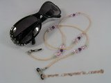 GCH004 Elegant pearl& faceted crystal grandmother's Eyeglass holders