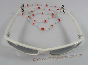 GCH009 wholesale Fashion faceted crystal & glass beads Eyeglass holders