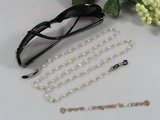 GCH012 Fanshion 4-5mm white potato pearl beads Eyeglass holders for xmas