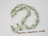 gnset027 Handmade gemstone jewelry for fall made with cultured pearl