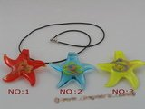 gpd002 10 pieces 60mm starfish-shape lampwork glass pendant