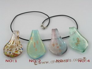 gpd015 10 pieces 60mm colourful clipper-built coloured glaze pendant