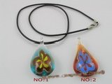 gpd021 10 pieces 50mm tear-drop coloured glaze pendant