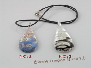 gpd022 10 pieces 60mm tear-drop coloured glaze pendant