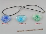 gpd026 10 pieces 35mm heart-shape lampwork beads pendant