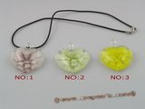 gpd027 10 pieces 40mm peach design lampwork glass pendant