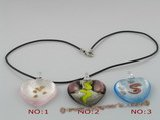 gpd028 10 pieces 40mm peach design lampwork glass pendant