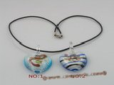 gpd031 10 pieces 35mm heart-shape lampwork glass pendant