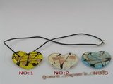 gpd032 10 pieces 50mm heart-shape lampwork glass pendant
