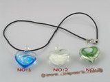gpd033 10 pieces 30mm heart-shape lampwork glass pendant