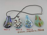 gpd035 10 pieces 60mm colourful clipper-built coloured glaze pendant