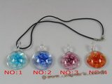 gpd038 10 pieces 30mm colourful round coloured glaze pendant