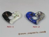 gpd042 10pieces 50*55mm heart-shape lampwork pendant in wholesale