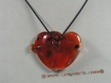 gpd043 10pieces 45*65mm double heart coloured glaze pendant