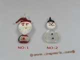 gpd044 wholesale 10pieces Santa Claus design lampwork pendant