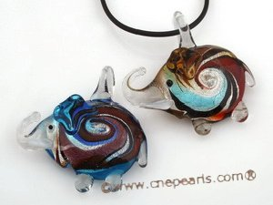 gpd068 10 pieces elephant design glaze pendant necklace in wholesale
