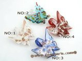 gpd069 10pcs Butterfly Shape Lampwork Glass Pendants Clearance sale