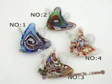 gpd070 Discount Sale 10pcs fish design lampwork glass pendant