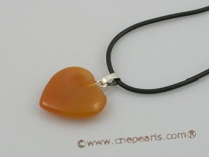 GS002 Wholesale five sets heart shape Gemstone pendant gift sets