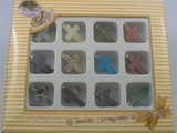 GS003 Wholesale five sets Cross Gemstone pendant gift sets