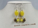 gse013 grape style earrings dangling jade &pearl