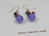 gse036 wholesale purple jasper earings with sterling ear hook