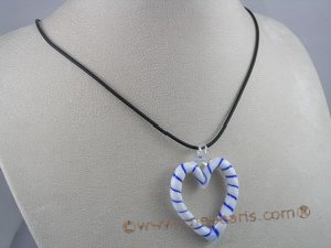 gset005 Beautiful heart-shape color glaze necklace&earring Set