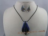 gset012 60mm clipper-built color glaze necklace&earrings set