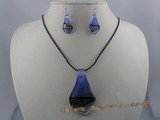 gset013 Clipper-built color glaze necklace&earrings set