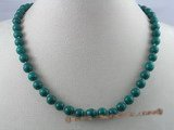 gsn002 Handcrafted 8mm roun malachite beads gem stone necklace
