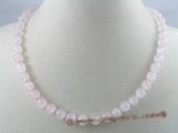 gsn005 Handcrafted 8mm rose quartz stone beads gem stone necklace