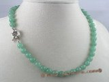 gsn007 Handcrafted 8mm chinese jade beads gem stone necklace