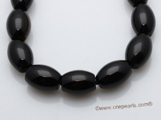 gsn027 12*16mm oval gemstone beads necklace