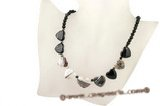 gsn103 Heart shape fortiflcation agate princess necklace