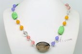 Gsn148 Stylist Hand Carfted Gemston Beads Princess Necklace