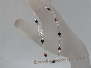 hbr005 sterling 4mm agate seed beads bracelet for holiday