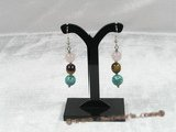 he001 gem stone sterling dangle FIESTA  Earrings