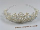 hj004 Gorgeous pearl & crystal costume Bridal tiara
