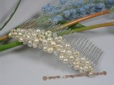hj007 crystal and pearl Bridal Comb jewelry