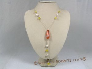 HN007 Delicate holiday gemstone necklace in sterling chain