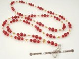 holder007 Fashion handmade red jade and crystal rope lanyards holders