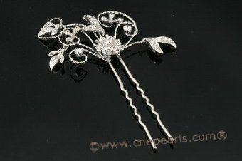 wedding Hair pins, Sparkle design Rhinestones bridesmaids Hair Pin hpj021 Cnepearls Ltd :  pearl necklaces bridal headpieces