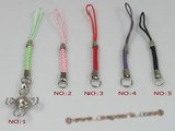 hsg007  strap lanyards pearl handset charms with cross cage